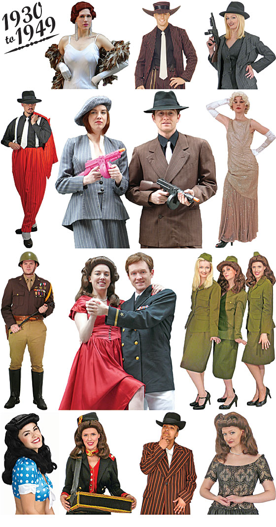 Decade Day Ideas http://www.bostoncostume.com/decades-30.html