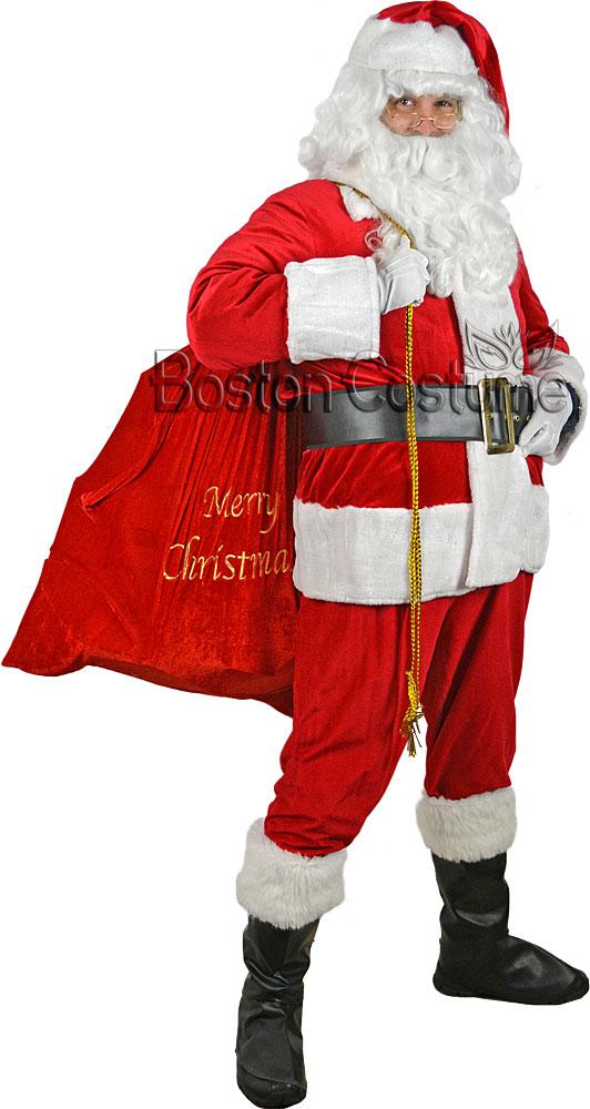 Sparkle Trim Santa Claus Costume  sc 1 st  Boston Costume & Sparkle Trim Santa Claus Costume at Boston Costume