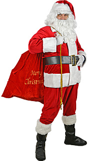 Sparkle Trim Santa Claus Costume