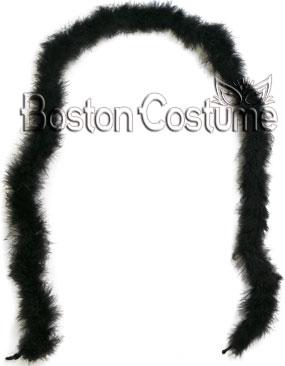 Black Marabou Feather Boa