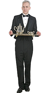 Waiter Rental Costume