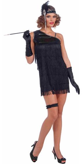 Black Diamond Dazzle Flapper Costume