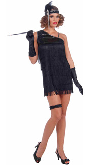 Black Diamond Dazzle Flapper Costume