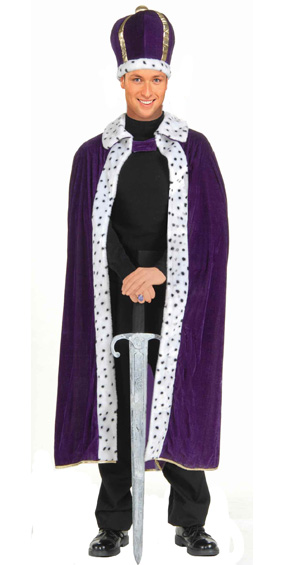 King Costume in Purple