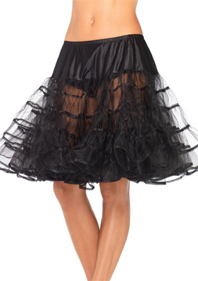 Mid-Length Petticoat in Black