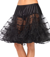Mid-Length Petticoat in Black