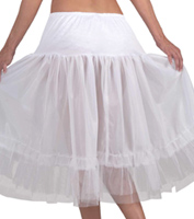 Tea-Length Crinoline in White