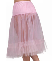 Tea-Length Crinoline in Pink