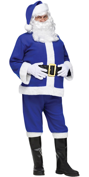 Frosty Blue Santa Costume by Fun World