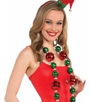 Jumbo Christmas Bead Necklace