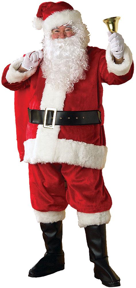 Premier plush santa suit plus size at boston costume
