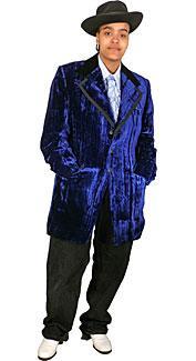 Blue Velvet Tuxedo Costume