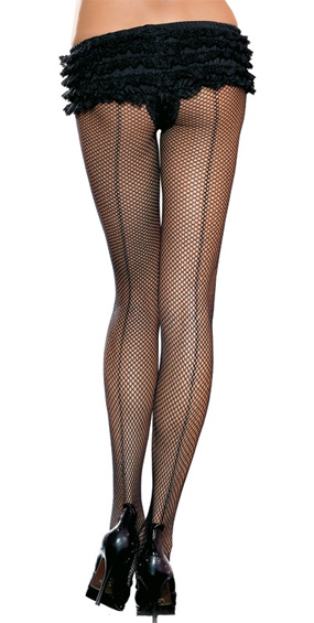 Fishnet Tights with Back Seam