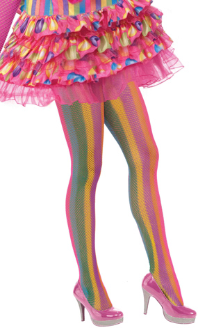 Circus Sweetie Striped Fishnet Tights