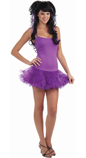 Purple Petticoat Dress