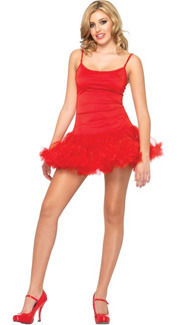Petticoat Dress in Red