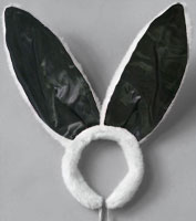 Deluxe Bunny Ears in Black/White
