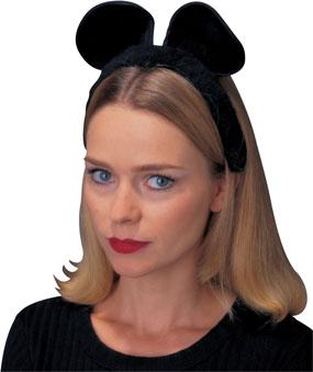 Cat/Mouse Ears Headband in Black