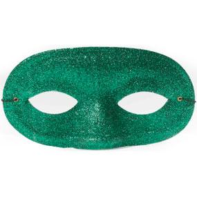 Half-Mask in Green Glitter