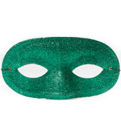 Half-Mask in Green Glitter