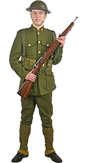 World War I U.S. Doughboy Rental Costume