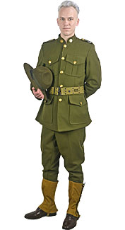 World War I U.S. Army Officer Rental Costume  sc 1 st  Boston Costume & World War I and World War II Uniform Costumes at Boston Costume