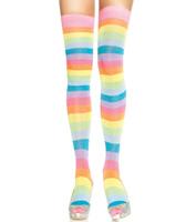 Neon Rainbow Thigh Highs