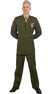 U.S. Marine Corps Service Uniform Rental Costume
