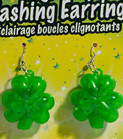 Flashing St. Patrick's Day Earrings