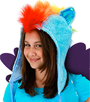 Rainbow Dash Hood at Boston Costume
