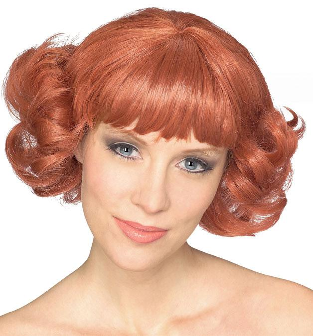 Red Flip Wig Costume And Wigs