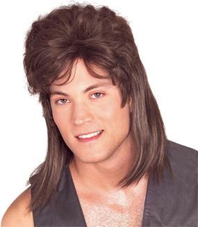 Rubies Brown Mullet Wig