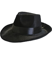 Pimp/Capone Hat in Black