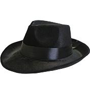 Pimp/Capone Hat in Black