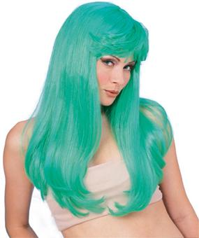 Glamour Wig in Green by Rubies