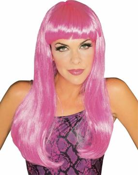 Glamour Wig in Hot Pink by Rubies