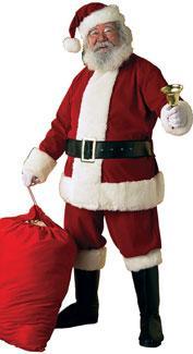 Velvet Santa Claus Costume