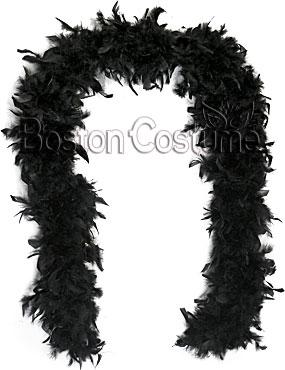 Long Black Feather Boa