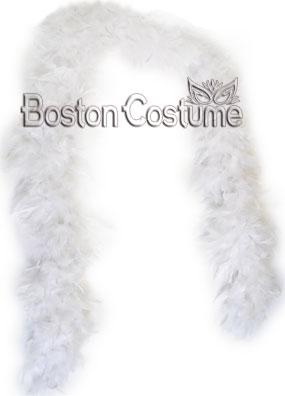 Long White Feather Boa