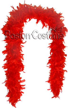 Long Red Feather Boa