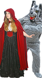 Little Red Riding Hood and The Big Bad Wolf Rental Costumes