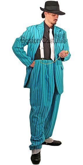 Turquoise Zoot Suit Costume
