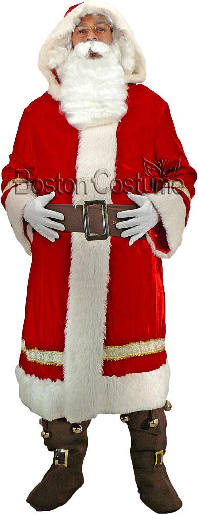 Old world santa claus costume at boston