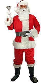 Velour Santa Claus Costume