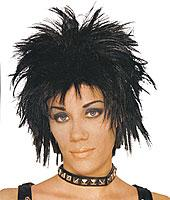 Short Rocker Unisex Wig in Black by Franco