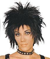 Short Rocker Unisex Wig in Black by Franco