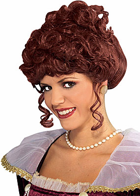 Victorian Lady Wig in Brown