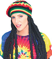 Rubies Rasta Wig With Hat