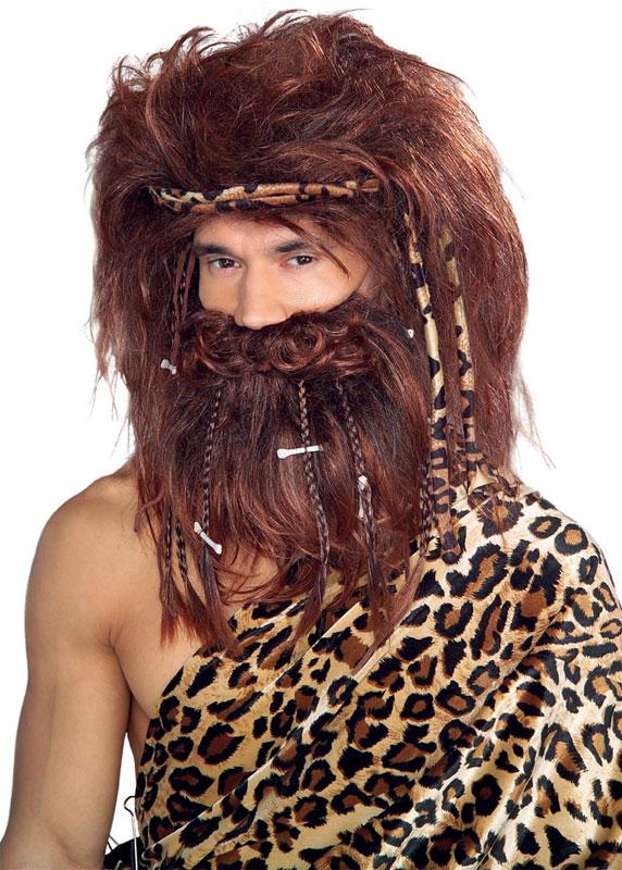 Caveman Hair : Caveman wig beard in auburn at boston costume