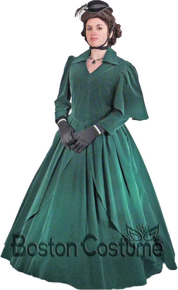 victorian  crinoline woman costume at boston costume
